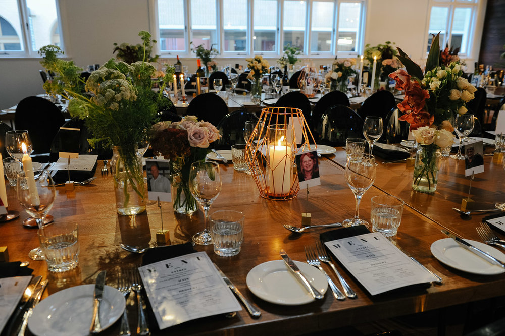 The Flour Factory wedding table