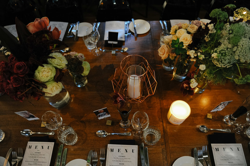 The Flour Factory wedding reception styling