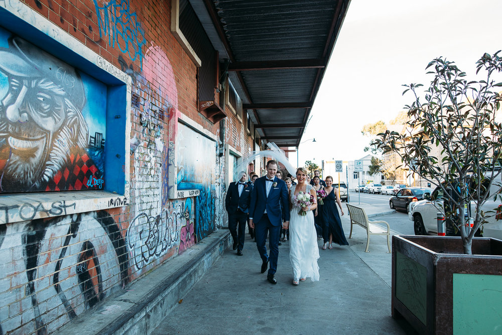 Fremantle street art - Peggy Saas Fremantle wedding photographer