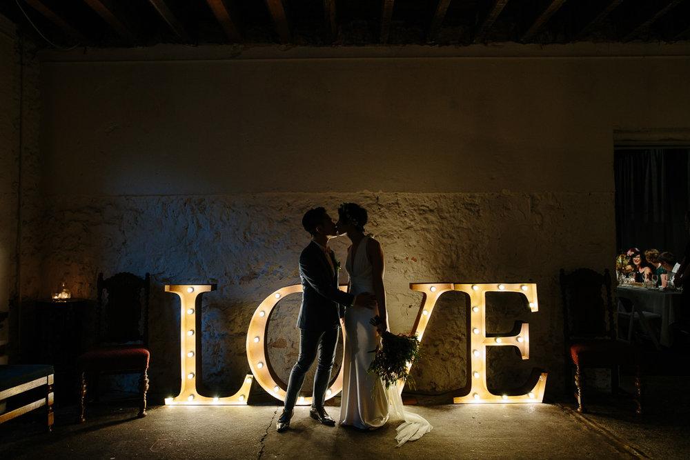 Vintage Letters - Moore & Moore wedding