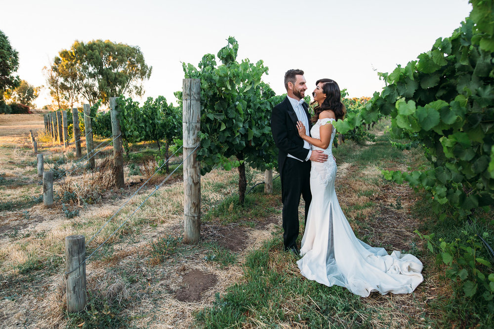 Sunset wedding-Sandalford Winery