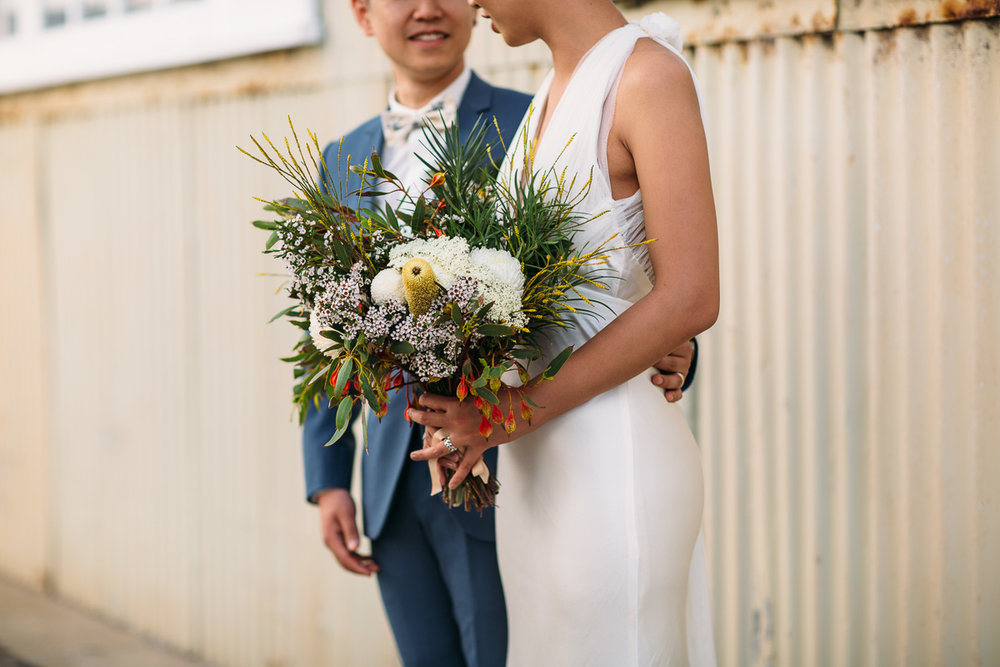 Fremantle wedding - bride and groom