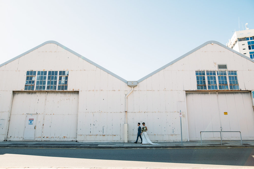 Fremantle ports - sunset wedding photos