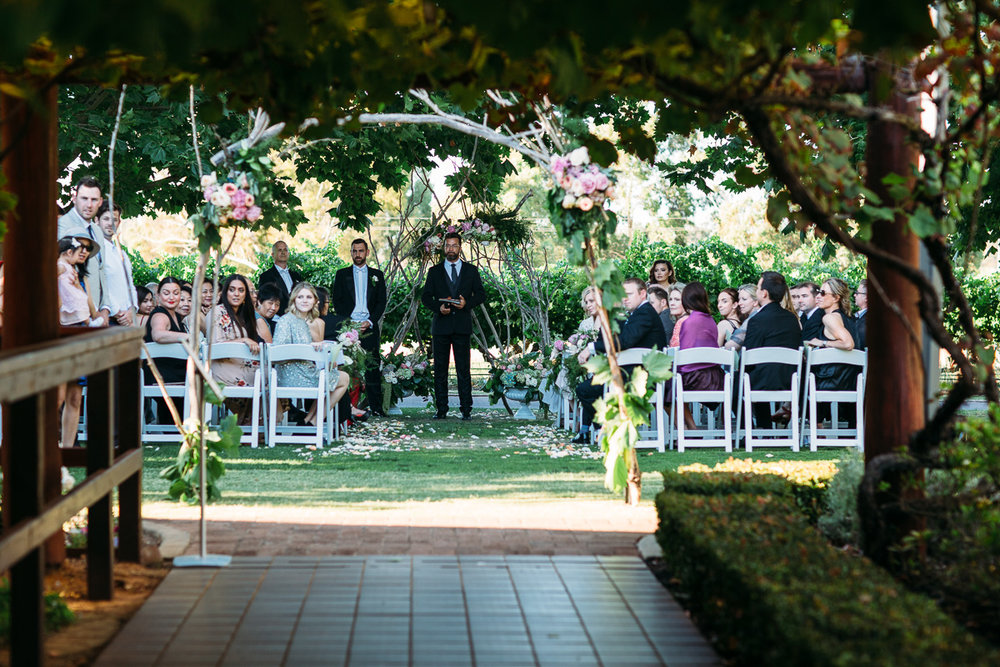 Sandalford Swan Valley wedding ceremony