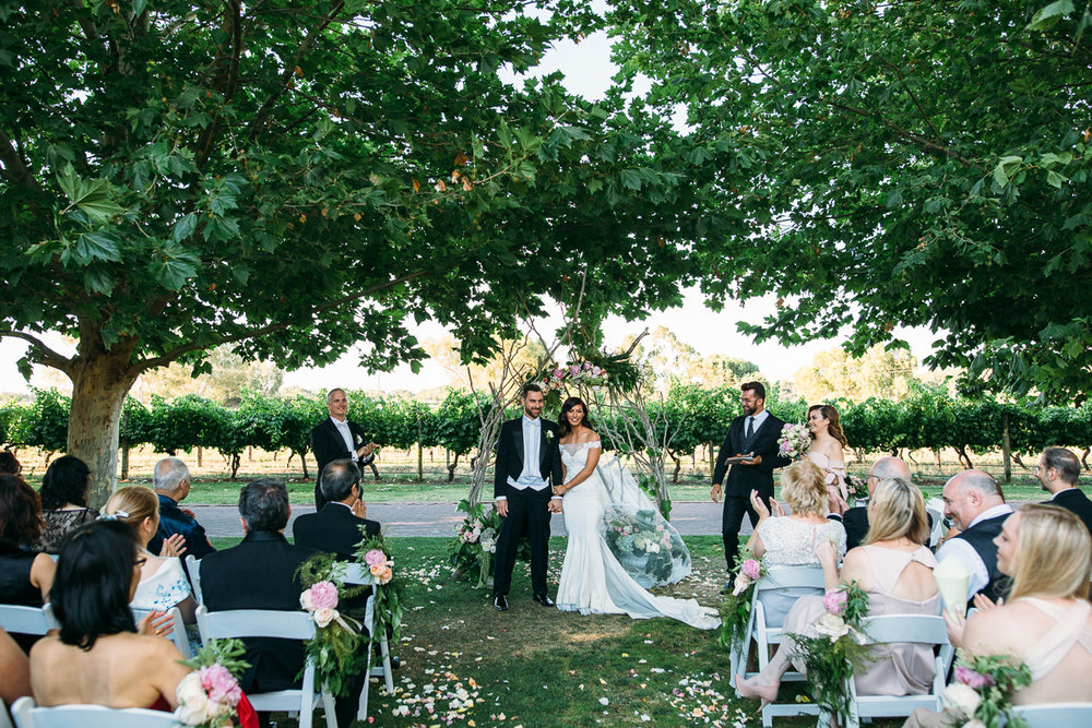 Wedding ceremony - Sandalford Wines