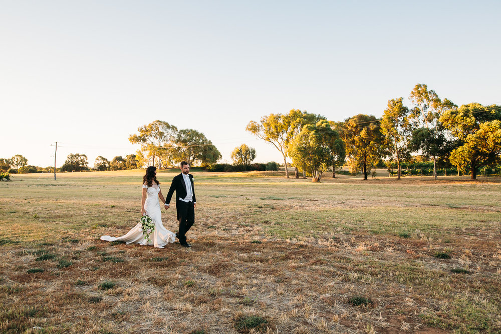 Sunset - Sandalford Winery wedding