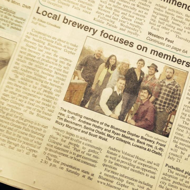 News coverage of our brewery's offering of patron memberships.