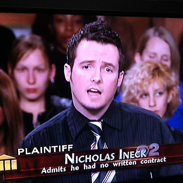Admittedly, there was no contract. But if I could direct your attention to exhibit C line 13, however.... #stillwinning #TBT #judgejudy