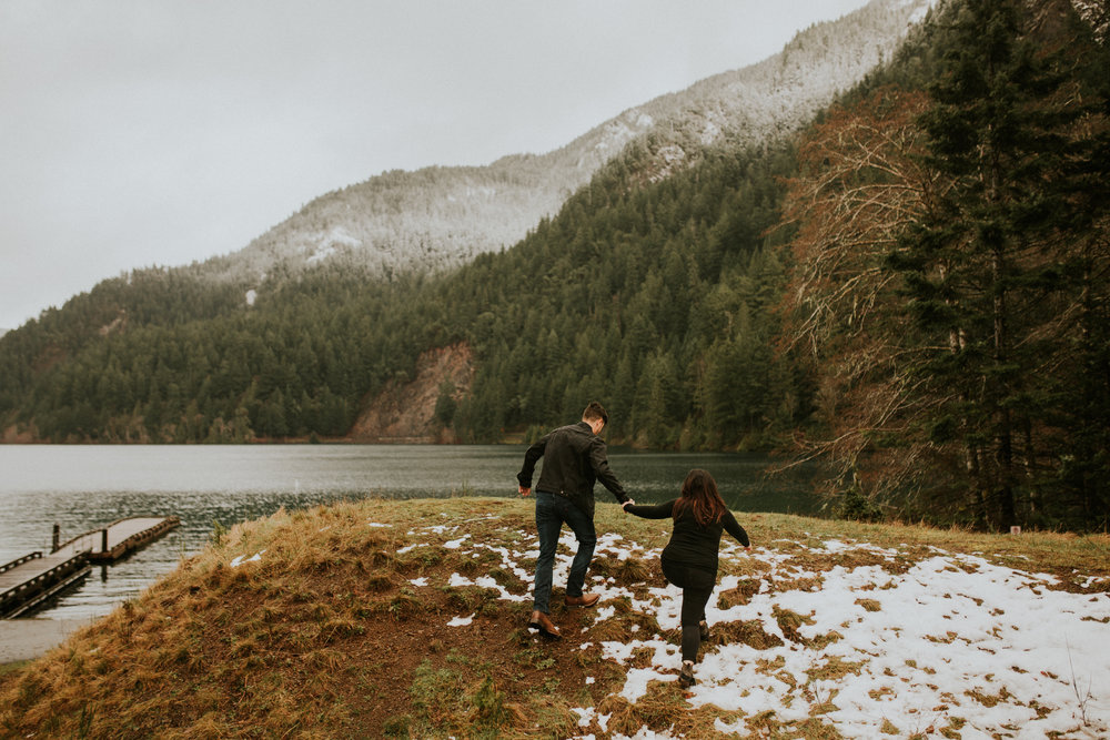 Olympic peninsula adventure engagement session