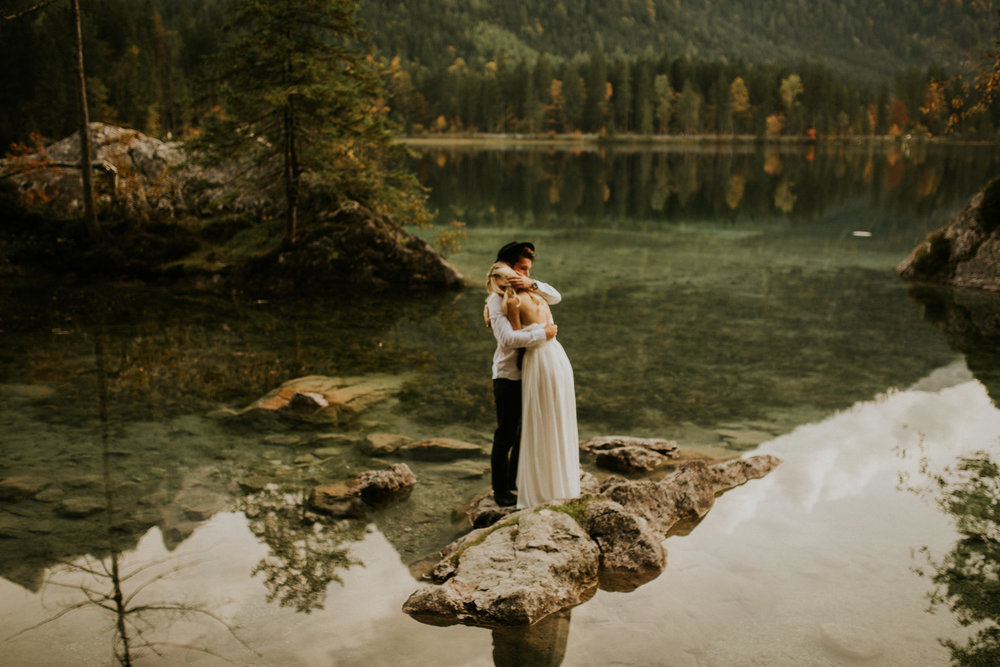 Hintersee elopement in a boat by BreeAnna Lasher