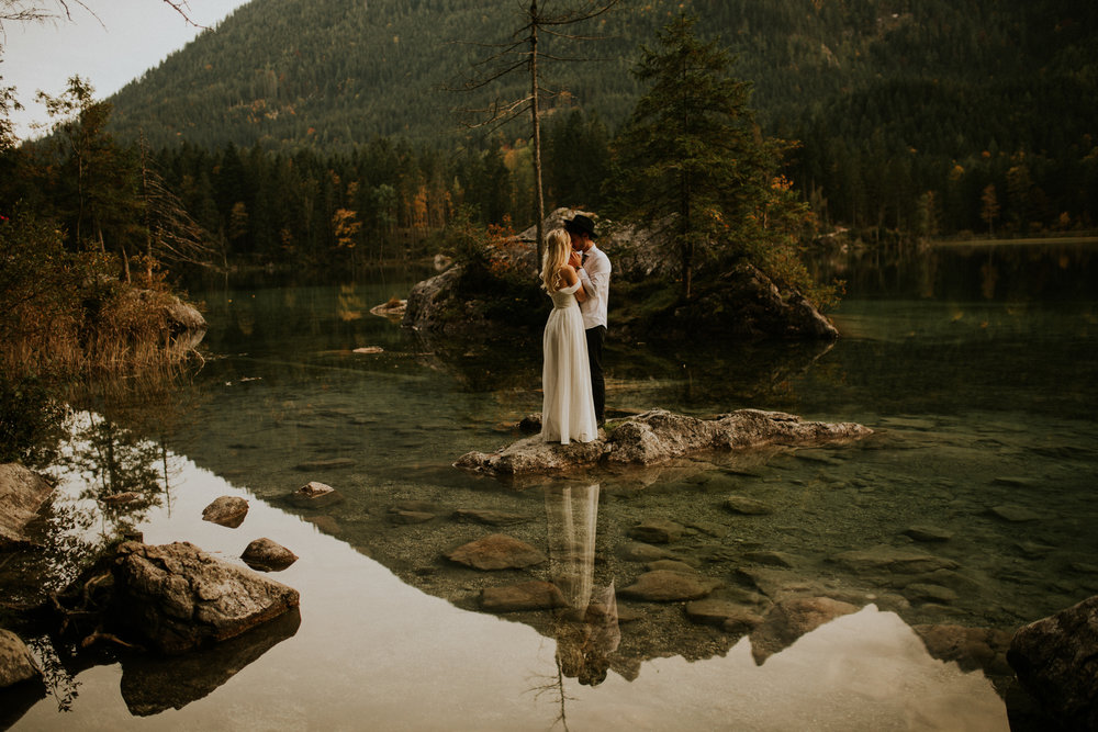 Hintersee lakeside elopement photography by BreeAnna Lasher