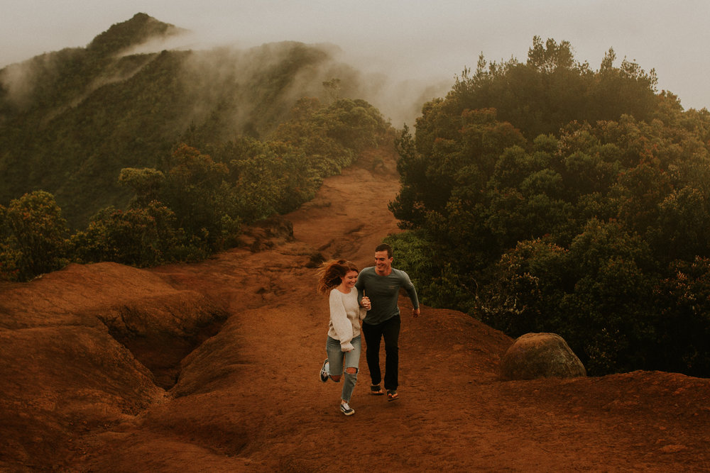 kauai nepali coastline rain storm engagement session