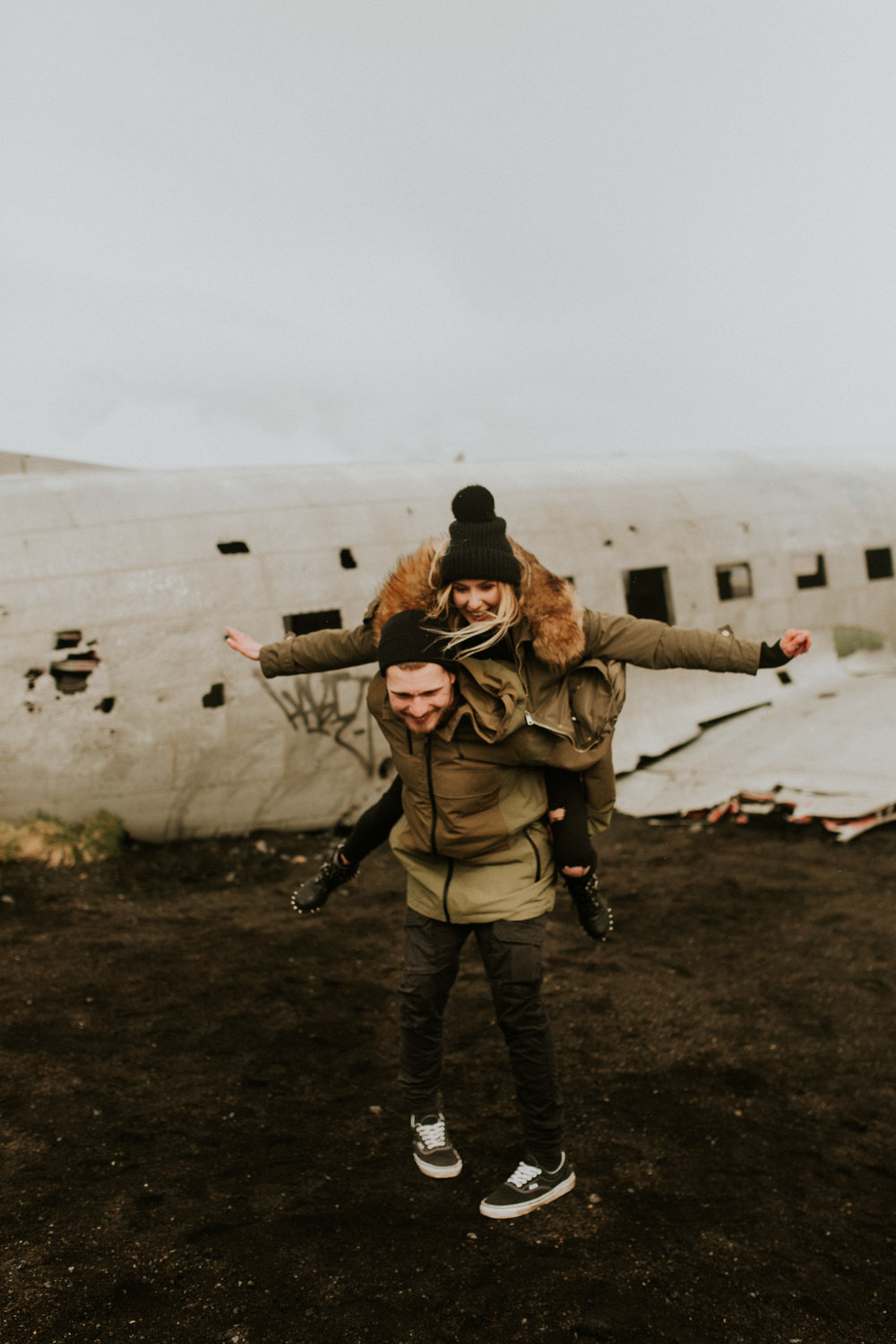 Sólheimasandur    iceland plane crash engagement session by BreeAnna Lasher
