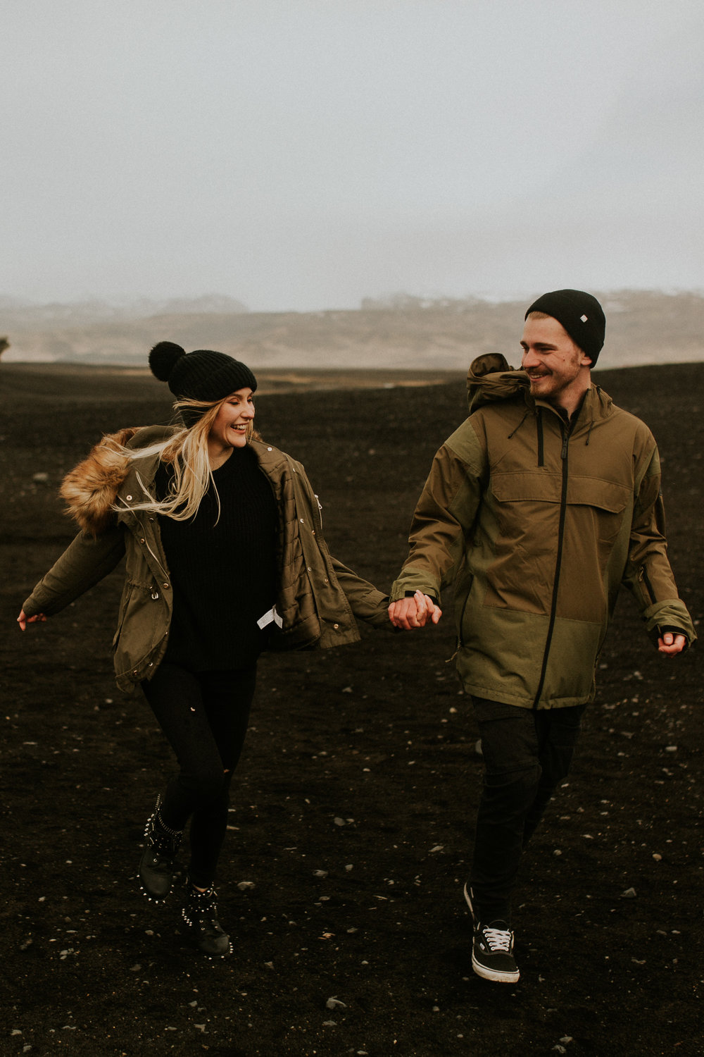 iceland   Sólheimasandur    plane crash adventure engagement session by BreeAnna Lasher