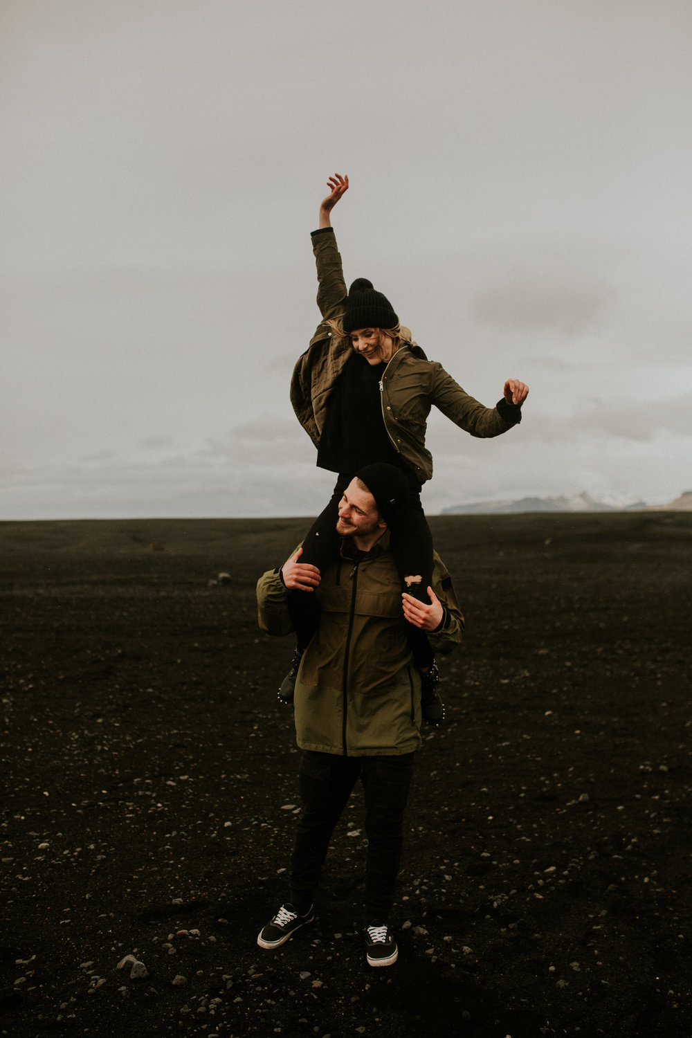 iceland skogafoss   Sólheimasandur    plane crash engagement session by BreeAnna Lasher