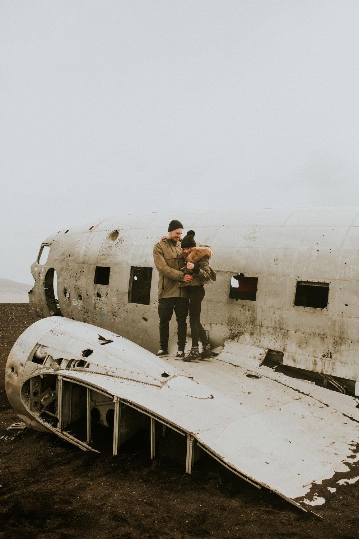 Sólheimasandur iceland plane crash engagement session by BreeANna Lasher