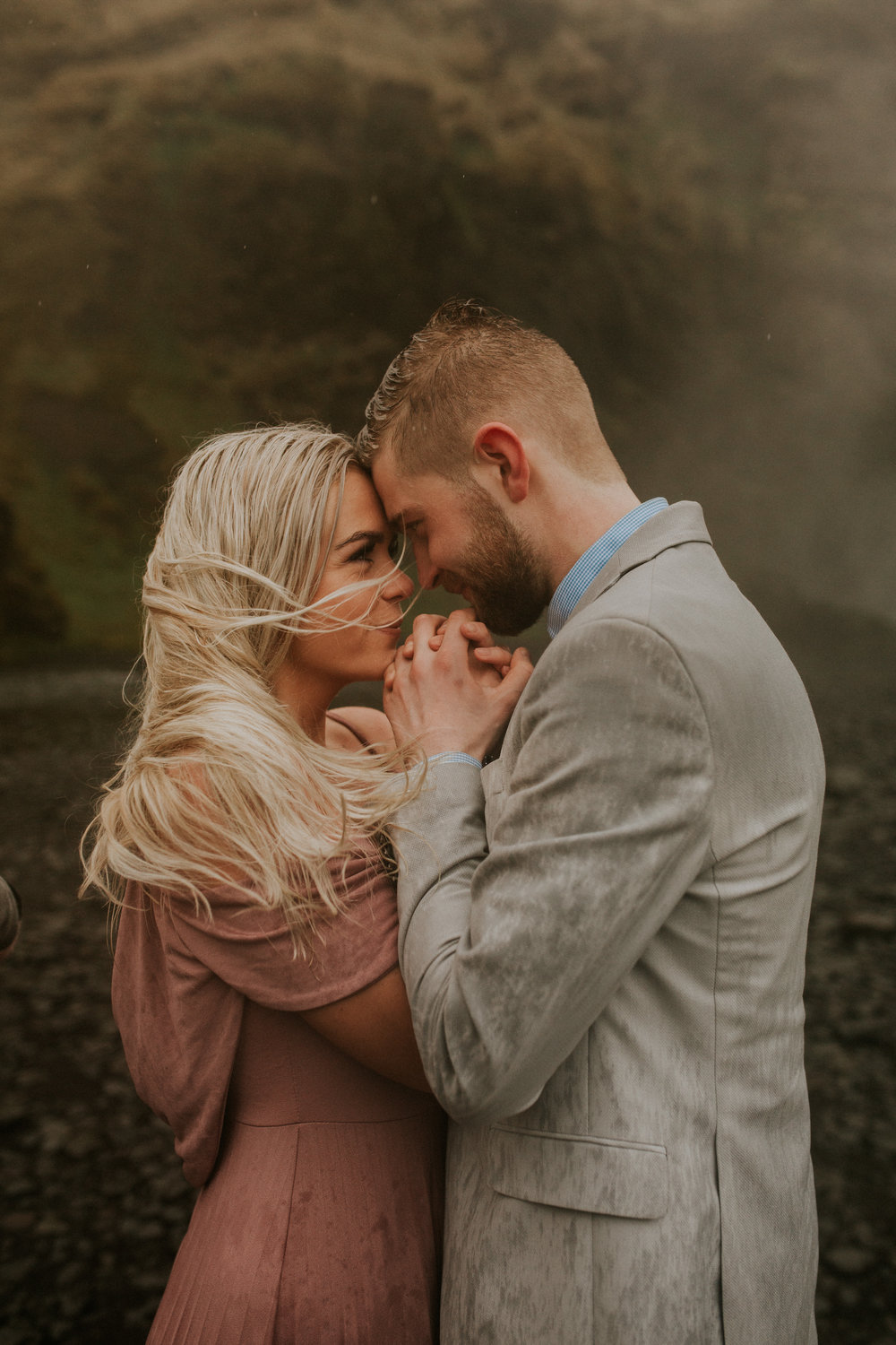 iceland engagement session by Skogafoss icelandic couple by BreeAnna Lasher