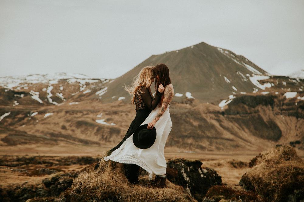 iceland intimate wedding same sex