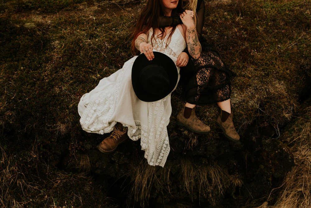 icelandic same sex lesbian couple intimate wedding photographer BreeAnna Lasher
