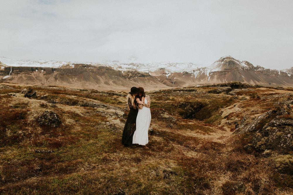 iceland lesbian elopement intimate wedding photographer breeanna lasher