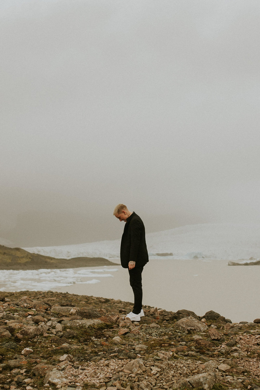iceberg lagoon elopement first look by photography breeanna lasher