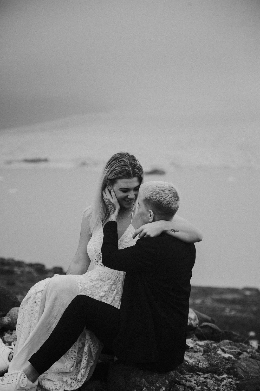 iceland iceberg lagoon fiance lgbt same sex