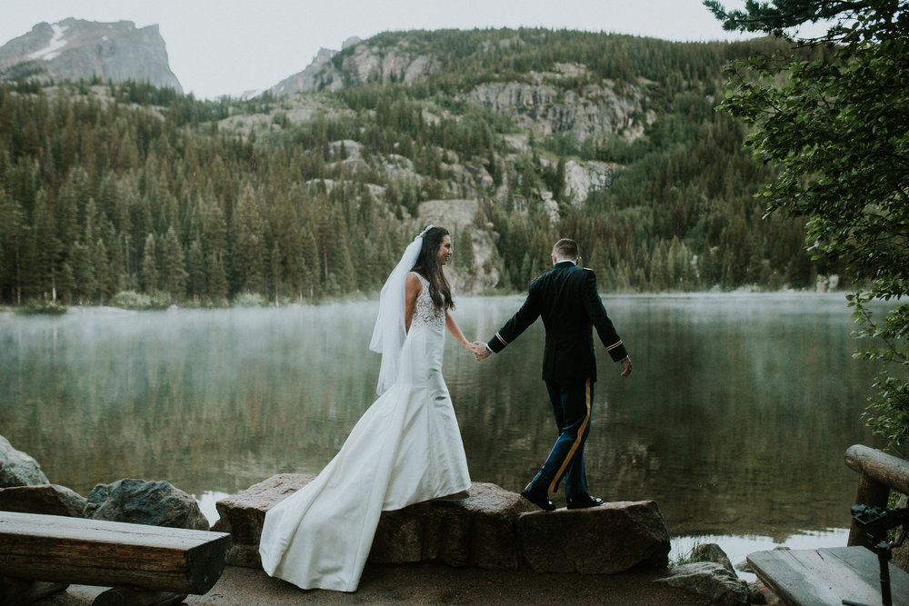 estes park bear lake elopement photographer