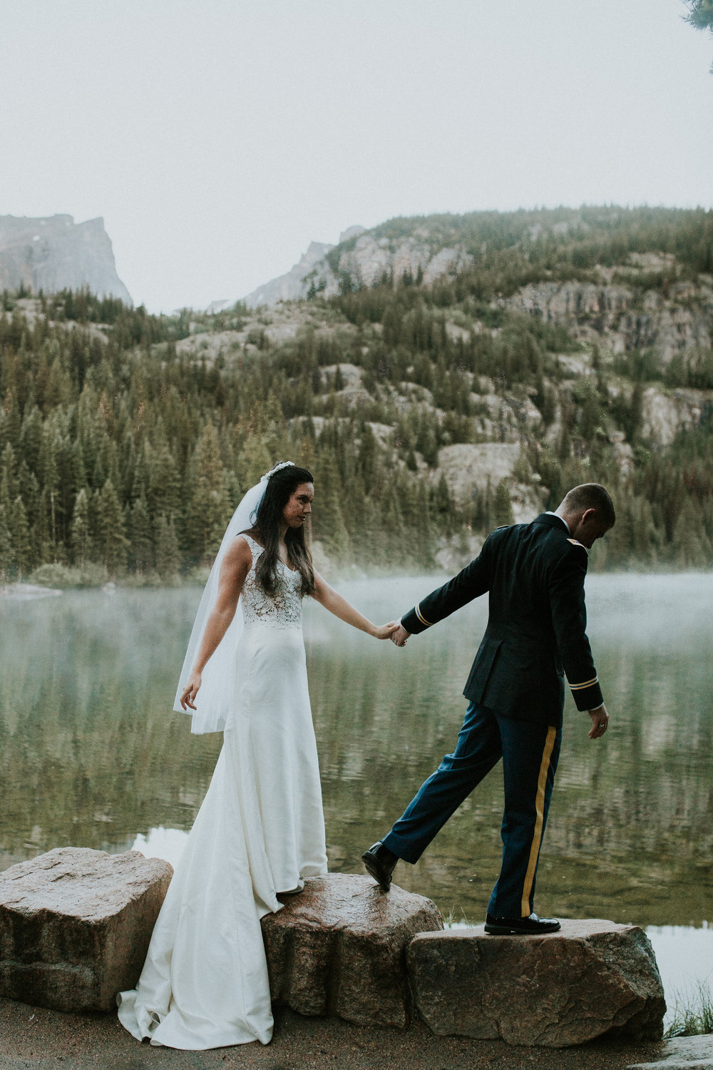estes park bear lake elopement