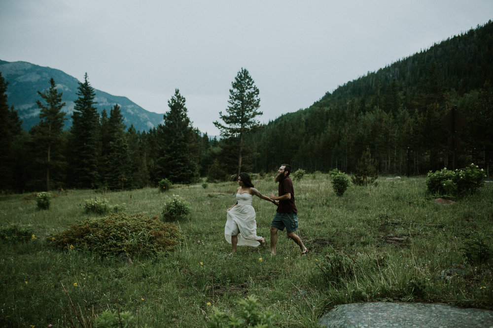 Estes Park adventure engagement photography breeanna lasher