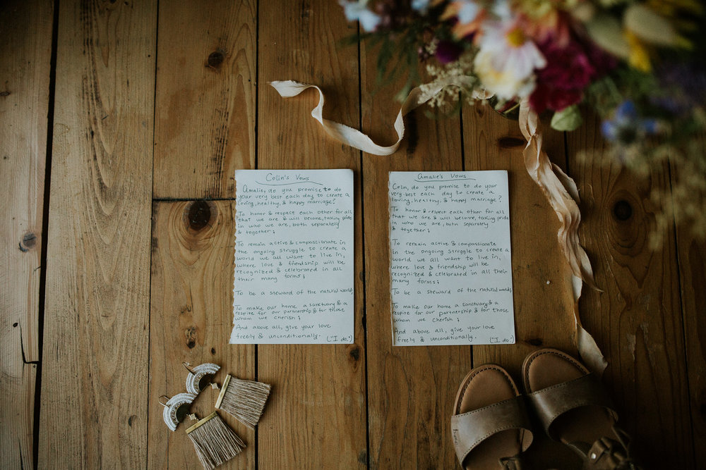 intimate portland oregon wedding by mackenzie river, vows and details photos, wedding photography