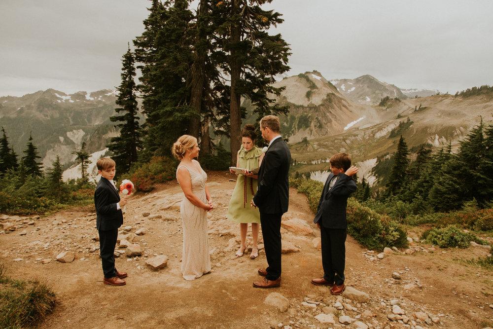 mt baker adventure elopement