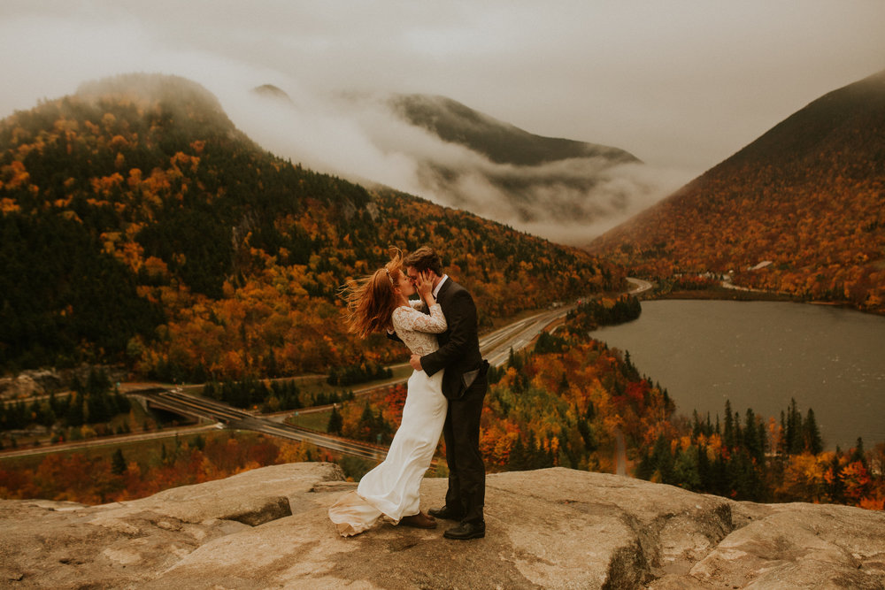 Artists bluff elopement - white mountain elopement - autumn elopement photography - artists bluff hike - artists bluff wedding - white mountain wedding - New Hampshire wedding photographer - artists bluff wedding photographer - New Hampshire hiking wedding - artists bluff hiking elopement photographer- New Hampshire best wedding photographers - white mountain wedding photographers