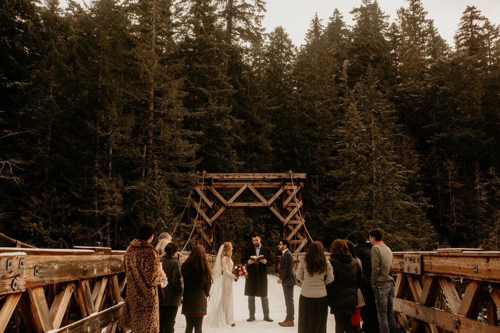 Mount Rainier Elopement photography - Mount Rainier - Mount Rainier photos - Mount Rainier photographer - Mount Rainier Wedding photography - Elopement locations - best PNW Elopement locations - best Seattle photographers - Mount Rainier Longmeyer Bridge - Longmeyer Bridge Elopement - best elopement outfits - best Seattle photography - Mountain elopement photography - Mount Rainier Wedding Photography - why to have a hiking elopement - hike for your elopement - how to have a hiking wedding - how to hike to your wedding