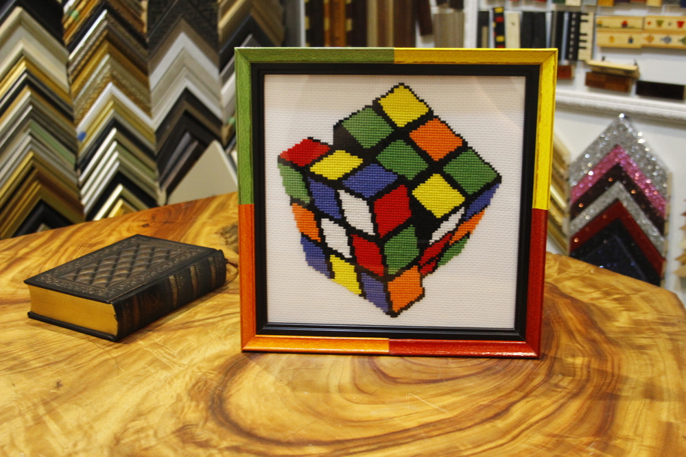 Creative framing design Rubix Cube Needlework