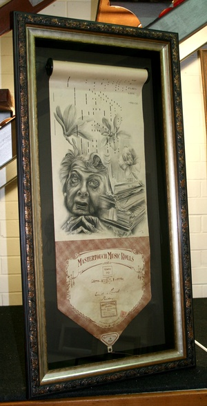 Piano Roll artwork framed brisbane