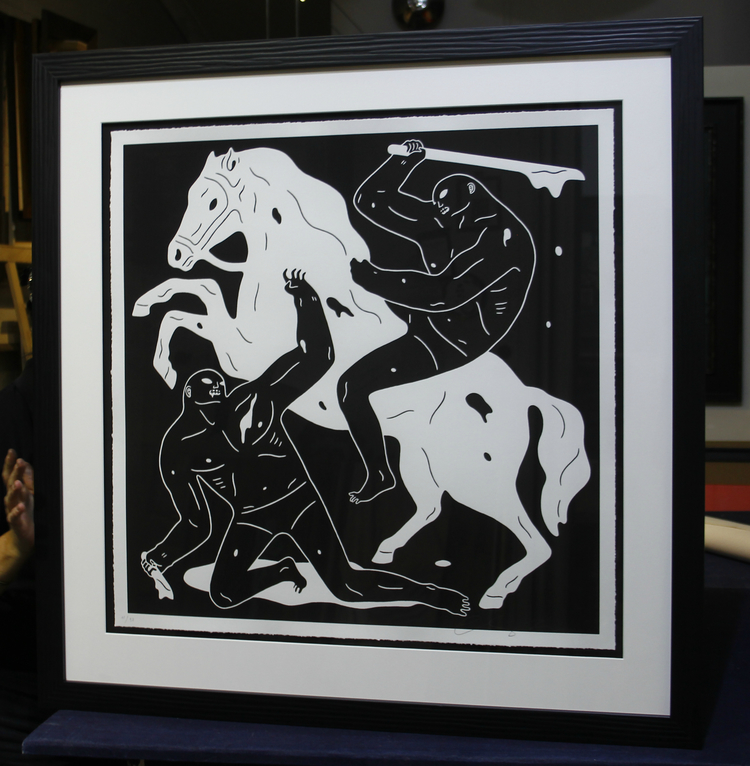 Cleon Peterson artwork framing