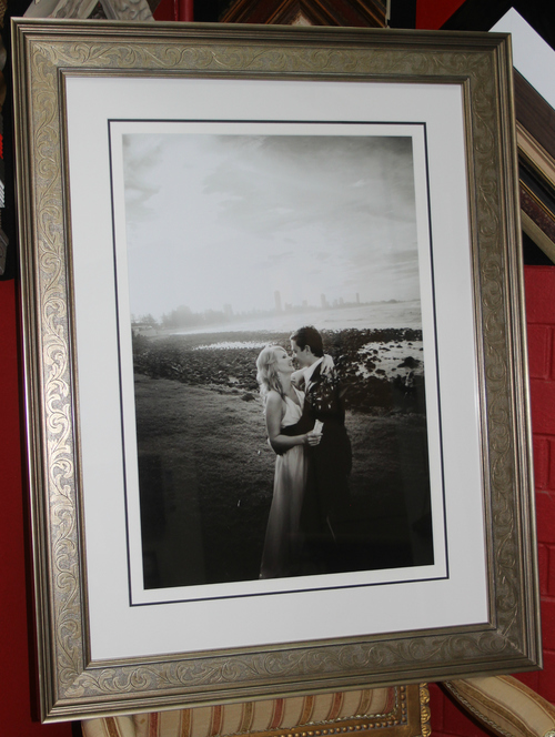 Wedding photo custom framing