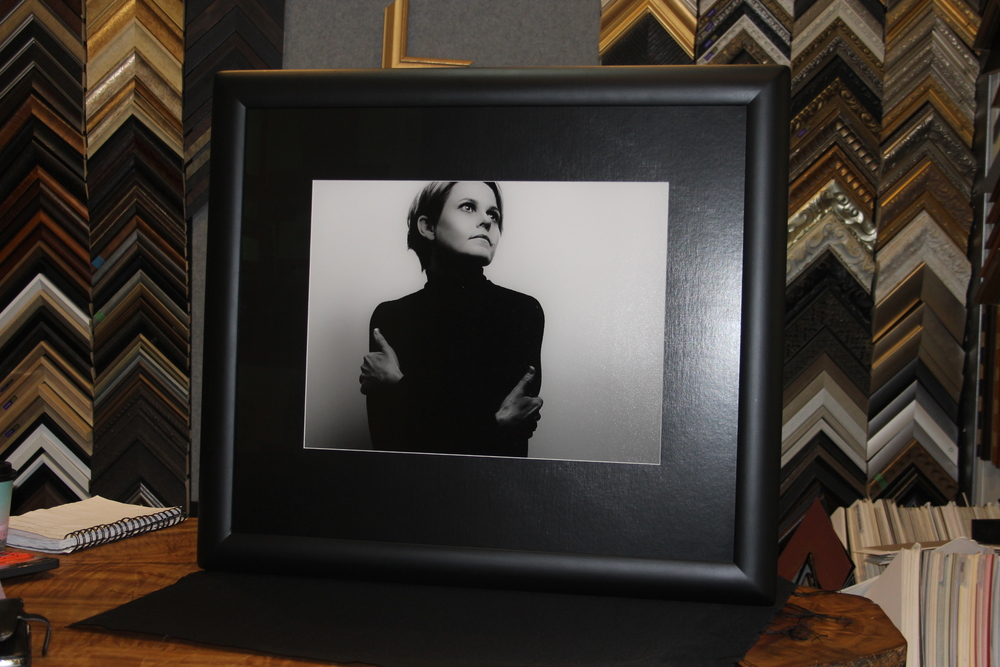 Black and White Photo custom framing
