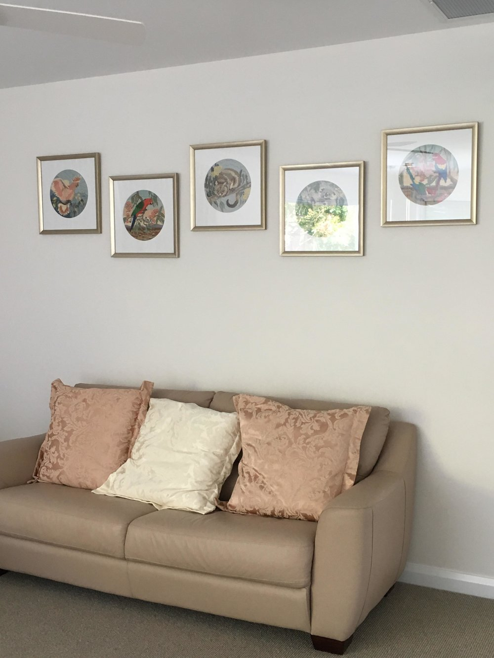 Gallery hang framed needleworks Brisbane.jpg