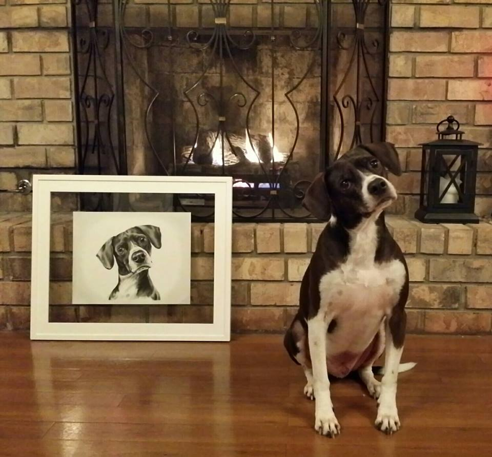 Pets with their Portraits