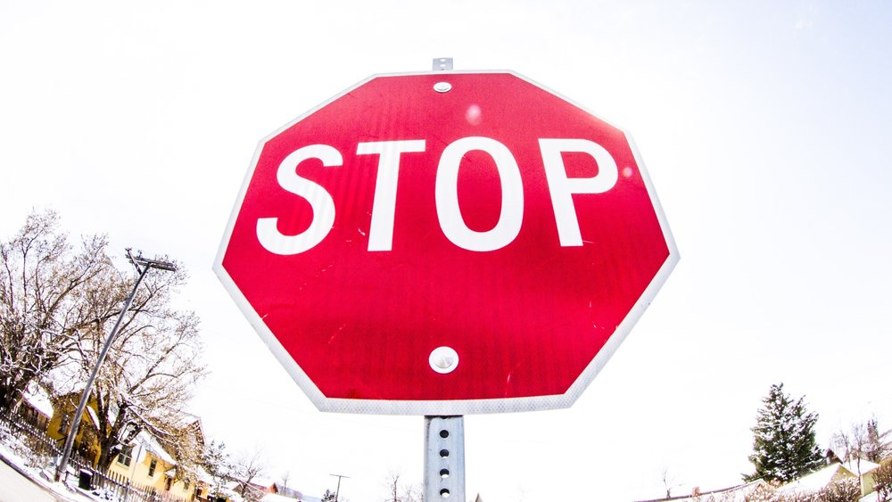 Stop sign in NE Bozeman