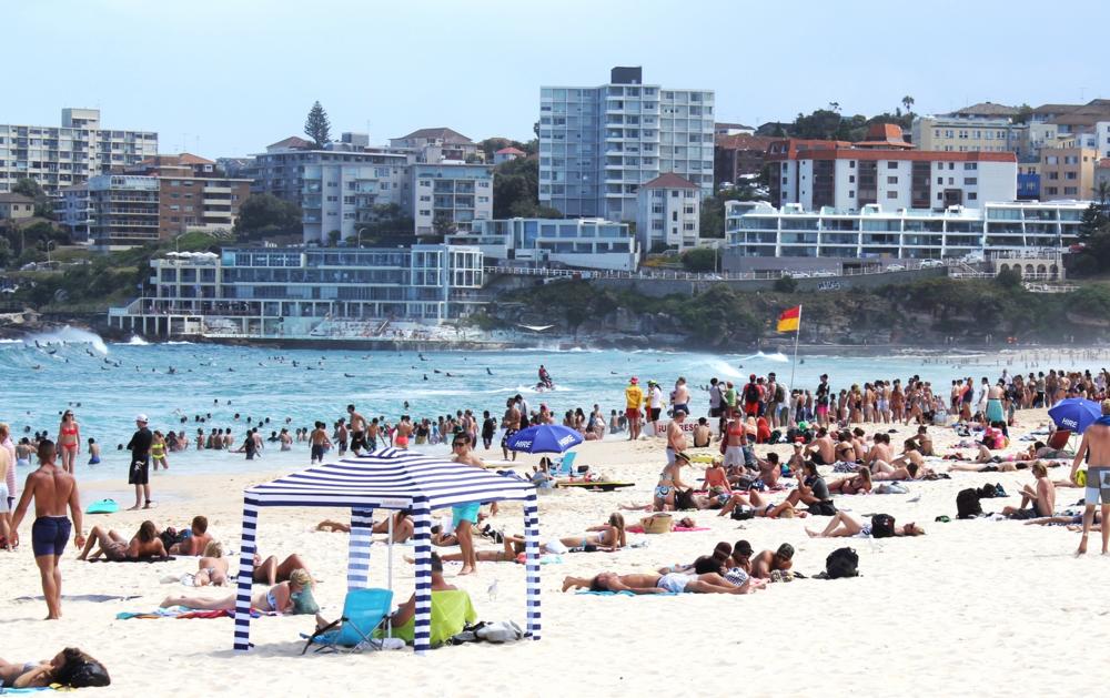 CoolCabanas at Bondi Beach, better than beach umbrellas or shelters!