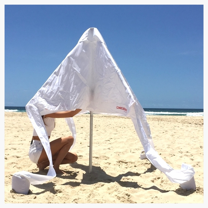 CoolCabana beach umbrella sun shelter