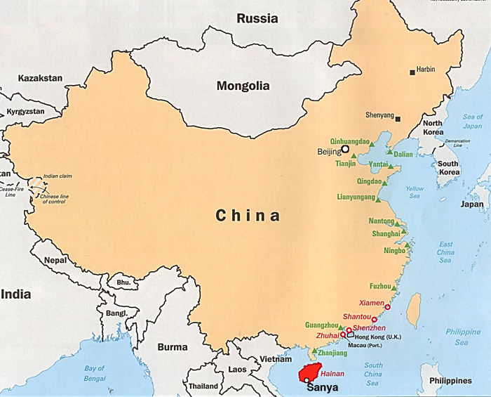 Sanya, extremo sul da China.