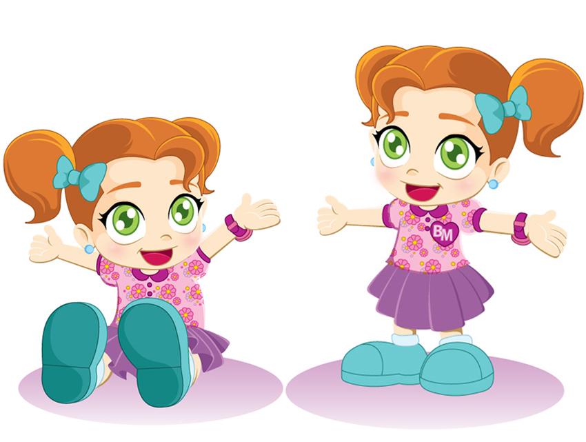 Mascot baby girl