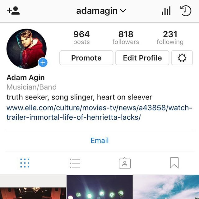 Y'all go give our boy @adamagin a follow. He's got lots of new tunes in the works. 🤘🏻🤘🏻