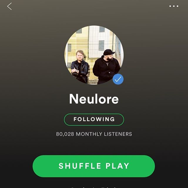 Got a fresh new profile pic and that nice little blue check mark on our @spotify account. Head over and give us a follow and listen to some tunes while you are at it! Much love.