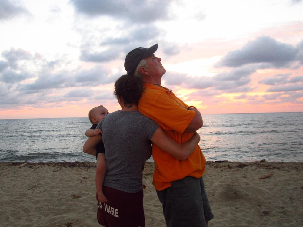 Mi bebe, mi padre y yo