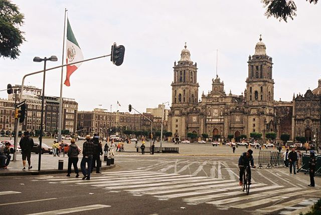 Rushing across the Plaza de la Constitución (the Zócalo) to catch our ride to the airport. It Thanks for following along. - @oppicat #bound #film #35mm #mexicocity