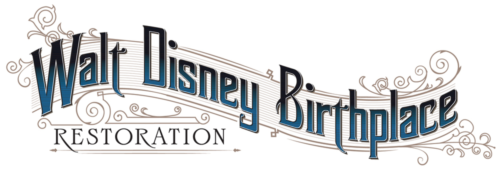 The Walt Disney Birthplace Restoration logo